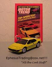 Johnny Lightning Motor Trend 1980 Lotus Esprit Turbo #16 Yellow w/Tan 1/64 MINT!