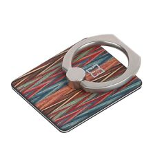Cell Phone Stand Ring Metal Pop Up 360 Rotation REAL Wood Backplate Multi-Color