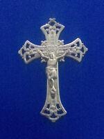 #3663# Belle croix pectorale ancienne/ pendentif / crucifix / argent