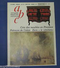 abc antiquités 173 faïences de calais + ziem le vénitien