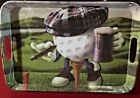 Golf Ball Cigar Beer Tee Golf Hat Shoes Golf Serving Tray Plastic Be the Ball