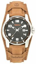 Timberland Men's Durham Black Dial with Leather Strap Watch