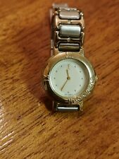 YSL YVES SAINT LAURENT GOLD PLATED WATCH. GOOD CONDITION. WHITE FACE
