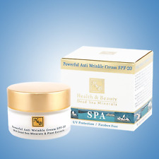 Powerful Anti Wrinkle Facial Cream SPF-20 Health&Beauty Dead Sea Minerals 50 ml