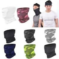 Unisex Summer Sunscreen Neck Gaiter Mouth Scarf Ice Silk Mesh Cycling Face Cover
