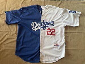 Los Angeles Dodgers Clayton Kershaw 22 two-tone Majestic Jersey Sz 52 XXL - VTG