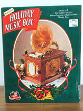 MR CHRISTMAS Mice Grammaphone Scroll Multi-Action 15 Christmas Carol Music Box