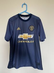 Adidas Kid's Manchester United 3rd Jersey Baby Blue Size 11-12 Years