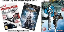 BATMAN ARKHAM CITY & ASYLUM GAME OF THE YEAR Edizioni & inversione NUOVO e SIGILLATO