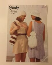 Wendy Knitting pattern Leaflet no 4648 Double Knit Crotchet Hats, Bags And Belt