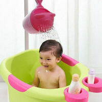 Baby Bath Cap Kids Washing Hair Shampoo Cartoon Bear Cup Children Shower Spoons