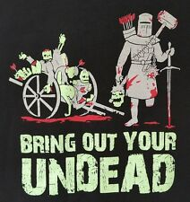 ThinkGeek Bring Out Your Undead T Shirt XL Monty Python Black Knight Zombie