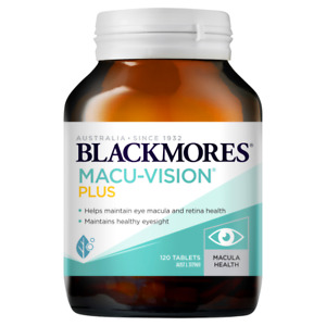 Blackmores Macu-Vision Plus 120 Tablets Macula Eye Health Lutein Macuvision