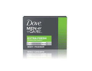 DOVE MEN CARE Soap Extra Fresh 1/4 Moisturising Cream Body+Face Bar 90 g