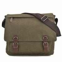 Dasein Unisex Canvas Messenger Crossbody Large Bag Vintage Main for Men
