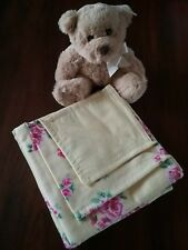 hand made newborn baby girl rug wrap blanket double thickness flanellette
