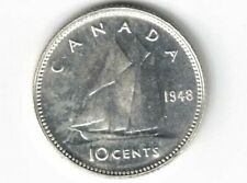 CANADA 1948 TEN CENTS DIME KING GEORGE VI .800 SILVER COIN CANADIAN NICE GRADE
