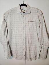 Bachrach Mens Dress Shirt White Collar French Cuffs Sz 16 1/2  34/35