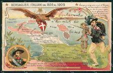 Militari Bersaglieri Italiani dal 1836 al 1903 cartolina XF1278