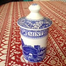 Spode Blue Room Mint Castle Spice Jar  Best Discontinued