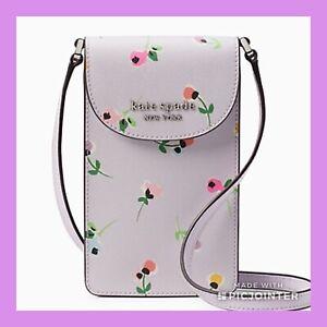 Kate Spade flap phone crossbody cameron wildflower ditsy purple NWT$119.00