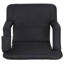 Portable Stadium Seat Chair, Reclining Seat Black Bleachers 5 Assorted Positions