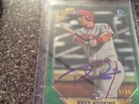 Rhys Hoskins Bowman Auto Green Refractor 16/99