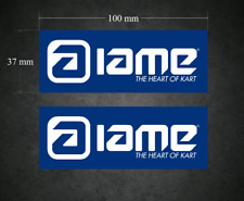 IAME Stickers - Decals 2 x 100mm x 37mm Printed & Laminated - Karting - Go-Kart