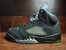 Air Jordan V Retro 5 (Black / University Blue) 2006 UNC 314259-041 Mens 9