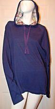 Tailor Vintage Dark Indigo Hooded Shirt Sz L NWT Ret $128.00