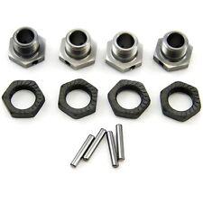 FRONT & REAR 17mm ALUMINUM HEX WHEEL HUBS, NUTS & PINS - Mugen 1/8 MBX7R Eco
