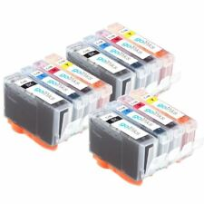 12 Ink Cartridges for Canon PIXMA iP3500 iP4200 MP500 MP800R MP970 MP510 MP610
