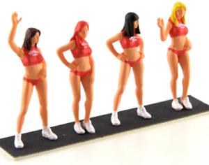 Le Mans Miniatures Hawaiian Tropic Girls 1/43 Resin Figure Set Of 4 COFLM143003M