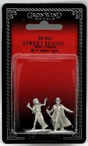 Ral Partha 20-561 Street Mages Male & Female (Shadowrun) Urban Wizard Miniatures