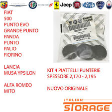 FIAT ALFA ROMEO LANCIA KIT 4 PIATTELLI PUNTERIE ORIGINALI 55223707 55190391