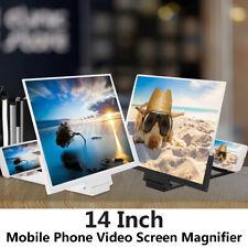 14'' Mobile Phone Screen Magnifier 3D Video Amplifier Smartphone Stand Bracket A