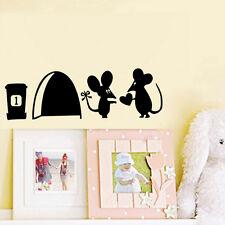 Mouse Hole Vinyl Mural Wall Art Sticker Decal Kids Nursery Room Home  Decor LSn