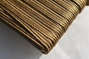 4mm Japanese silk tsuka-ito, gold-brown