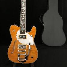 Custom Shop F hole Semi Hollow Body TL250 Electric Guitar Quilt Maple Bigsby Bri