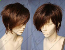 HESW181 newest style short brown mixed hair straight wigs for modern women wig