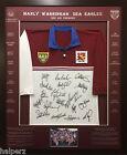 Blazed In Glory - 1996 Manly Sea Eagles Premiers - NRL Signed & Framed Jersey