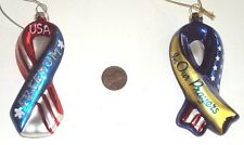 Christmas Ornaments, In Our Prayers USA Freedom Soldiers Ribbons, NEW