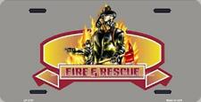 Aluminum License Plate Fire and Rescue NEW