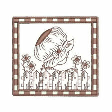 1066:  Machine Embroidery Designs - Sunbonnet Sally - Redwork
