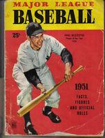 1951 Major League Baseball magazine Facts Figures Phil Rizzuto, Yankees ~ Fair