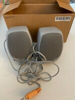 Polk Audio Computer Speakers 5065-5746 Set 2 Grey Pre-Owned Works Free Shipping