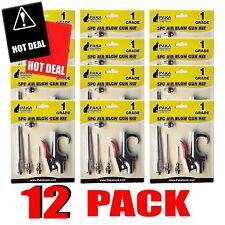 12 set Kit Air Blow Gun Kit Inflation Needle Nozzle Gun