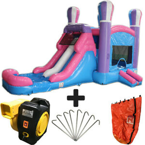 28ft Pink Balloon Wet/Dry Commercial Inflatable Bounce House Water Slide Combo