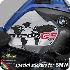 2 Adesivi Fianco Serbatoio Moto BMW R 1200 gs adventure LC Planisfero