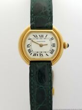 Cartier Vendome 18k Gold French Hallmarks Running Ladies Wrist Watch